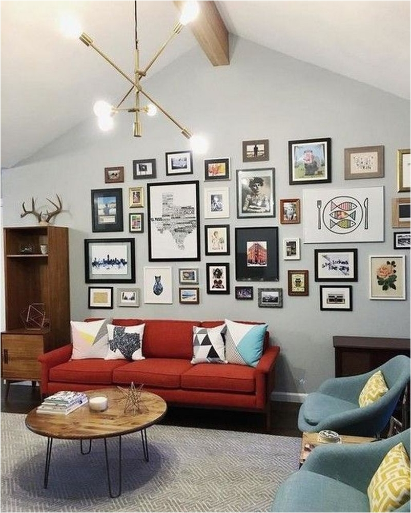 Choosing a Wall for Inspiration Wall Gallery for Exciting Living Room