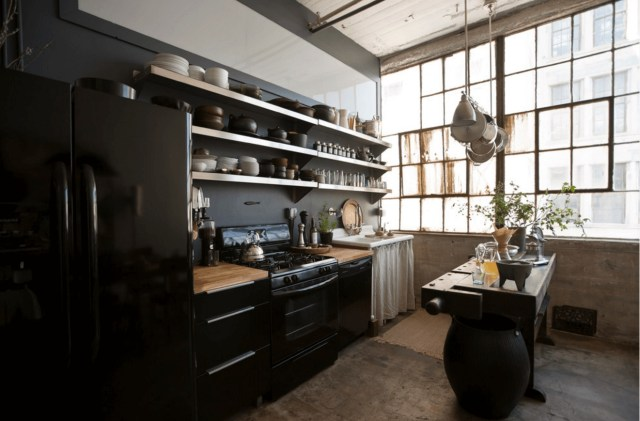 Industrial for Monochrome Style Kitchen