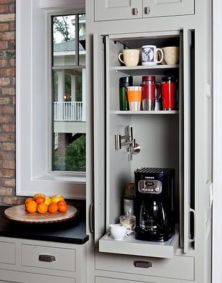 Kitchen Set Cabinet for Personal Coffee Shop at Home