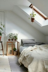 Lovely Attic Bedroom Color Ideas With Roof