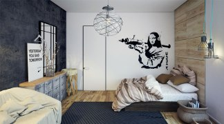 Low Beds for Awesome Industrial Bedroom Inspiration