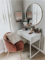 Minimalist Makeup Table In Corner