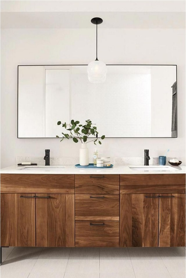 Modern Wood Bathroom Cabinet