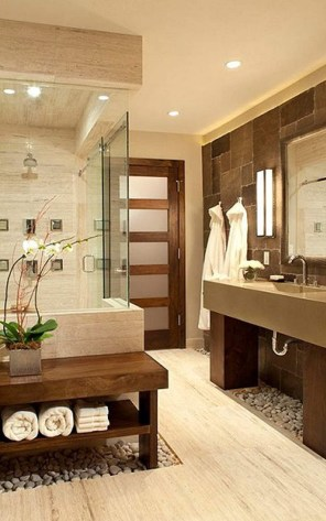 Natural Bathroom With Rocks On Several Floors