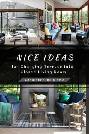 Nice Ideas For Changing Terrace Into Closed Living Room