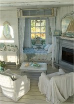 Pastel Blue And White Shabby Chic Color