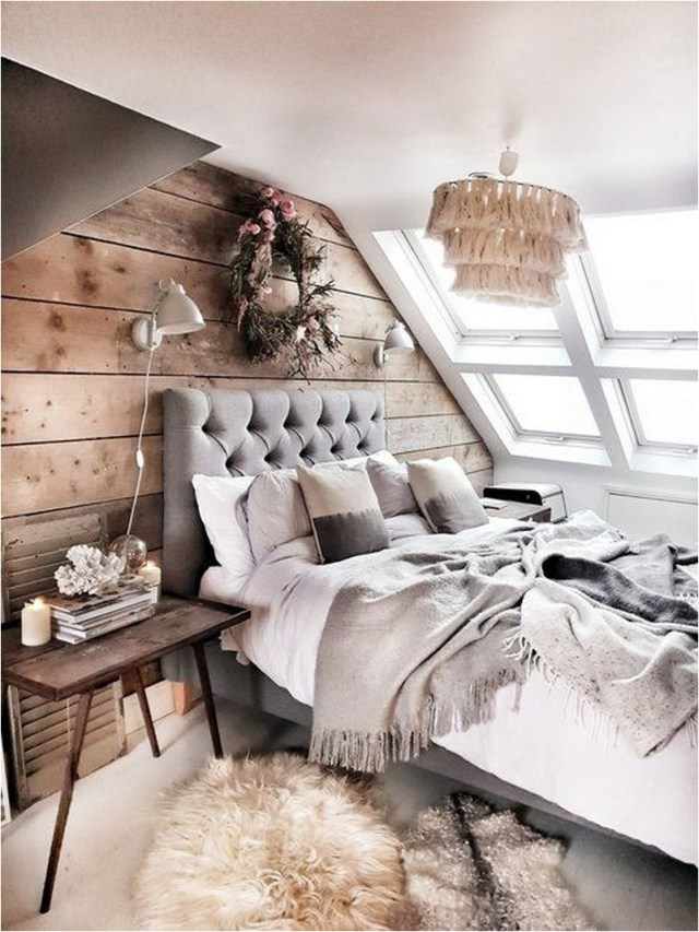 Rustic Romantic Attic Bedroom