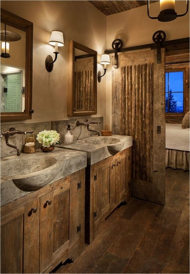 Rustic Style Bathroom Ideas