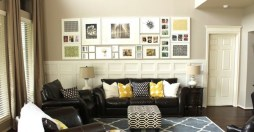 Selecting the Focus Point for Inspiration Wall Gallery for Exciting Living Room