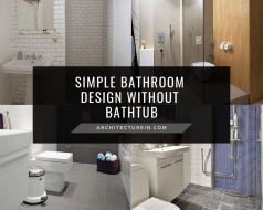 Simple Bathroom Design Without Bathtub Featured