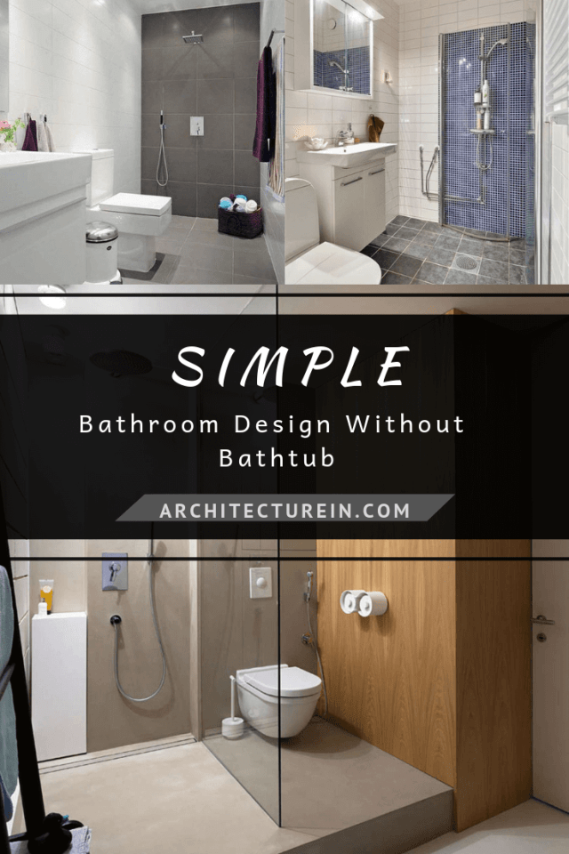 Simple Bathroom Design Ideas Without Bathtub Architecturein