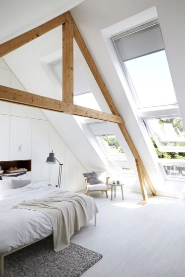 Simple Attic Spaces Bedrooms