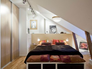 Sliding Door for Comfort Attic Bedroom