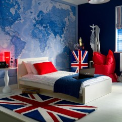 Small Bedroom Ideas For Teen Boys With Wall Stickers Map Of The World