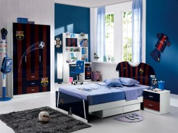 Small Bedroom Ideas For Teenage Boys With Soccer Themes