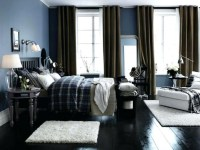 Small Bedroom Ideas For Teenage Boys With Two Color Walls And Wooden Floors