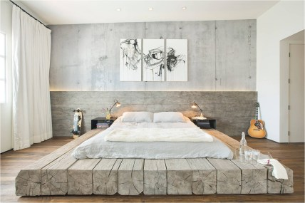Soft White Industrial Bedroom Color