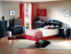 Teenage Boys Bedroom Ideas With Black Furniture
