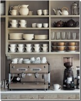 Unused Bookcase for Personal Coffee Shop at Home