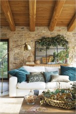 White Sofa Nd Plant For Rustic Home