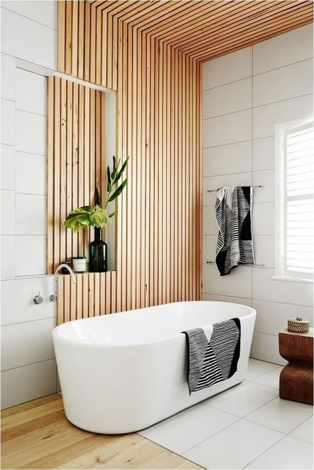 Wood Panel Bathroom Ideas
