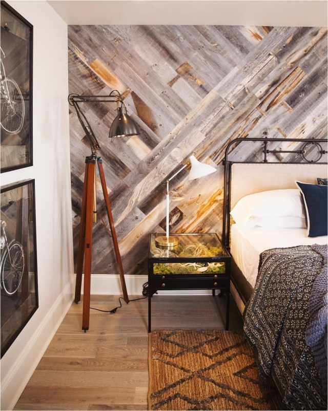 Wood Wall Accent Bedroom