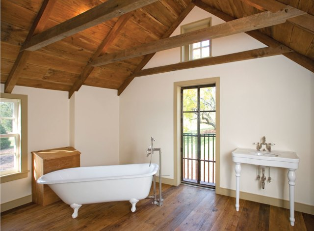 Wooden Roof for Bathroom Design Inspiration with Wooden Alloy