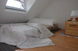 Bed Under a Sloping Roof for Comfort Attic Bedroom
