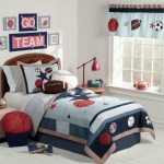 Cool Red White And Blue Sporting Themed Boys Room