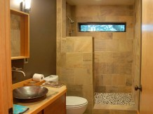 Divider for Simple Bathroom Design Without Bathtub