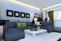 Living Room Beautiful Light White Colors