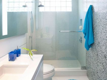 Tosca Color for Simple Bathroom Design Without Bathtub