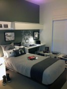 Two Tone Wall Color Bedroom Decorating Ideas For Boy