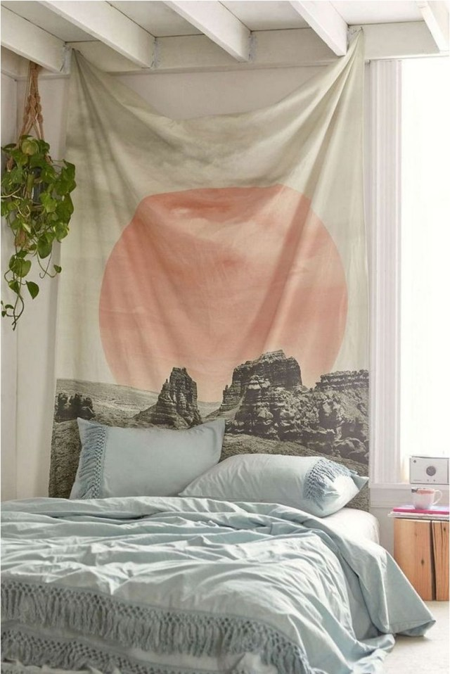 6 Floor Bed And Tapestry Bedroom Decorations