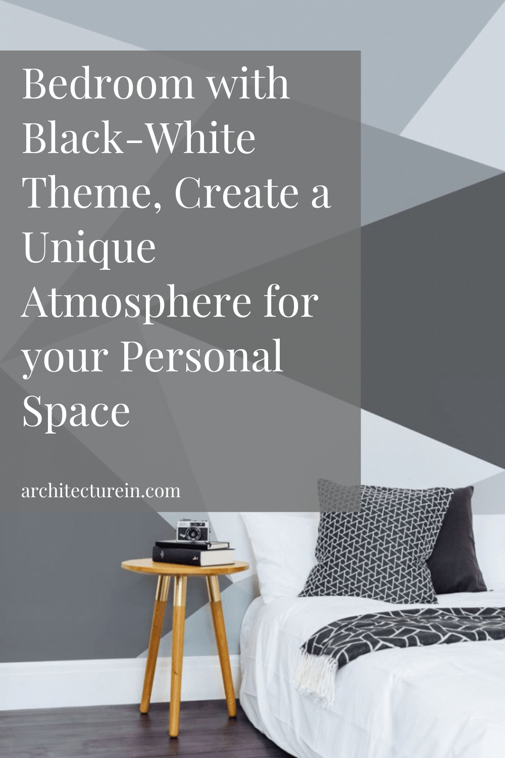 Black Touch on Wall for Bedroom with Black-White Theme