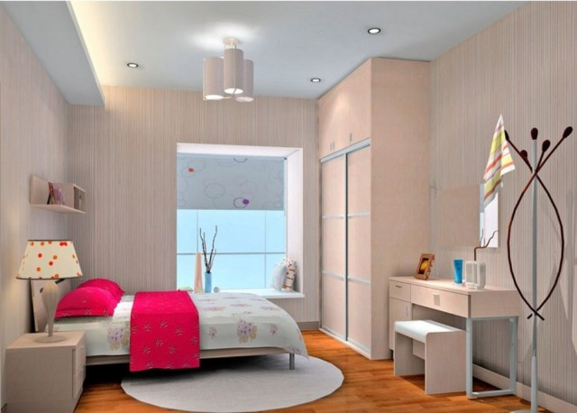 Color for Minimalist Bedroom Design for Newlyweds