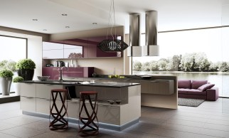 Colorful Alloys for Kitchen Design Ideas with Amazing Wall Decorations