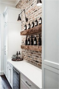 Exposed Brick Wall Industrial Kitchen Decorations Ideas
