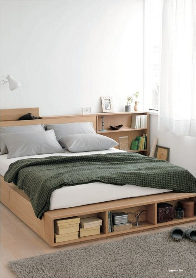 Floating Bed With Storage