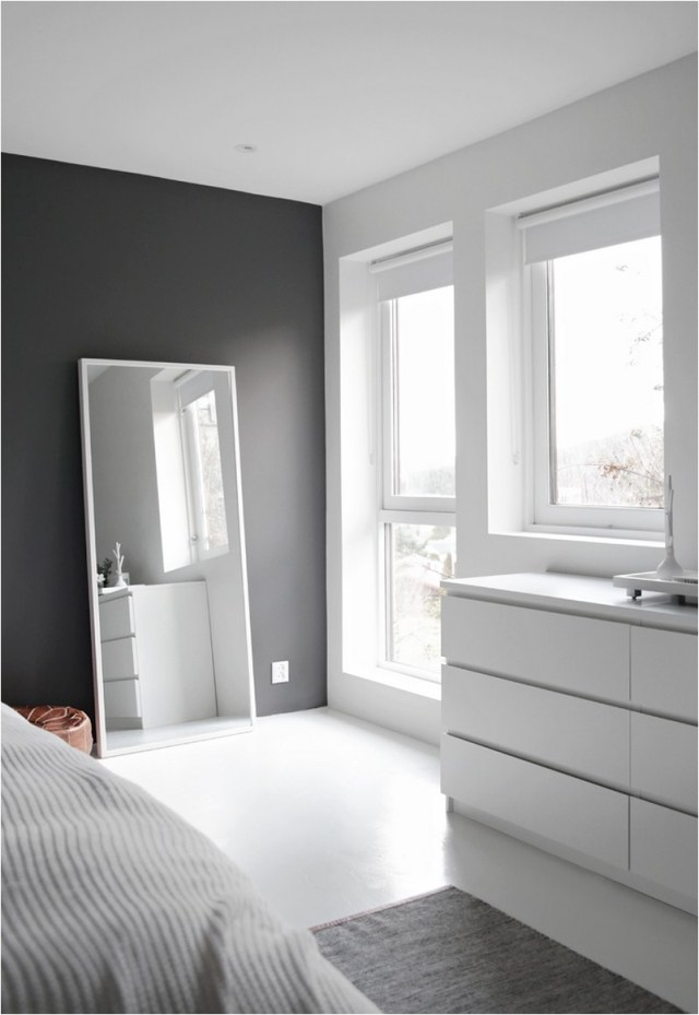 Minimalist Scandinavian Bedroom With Large Window