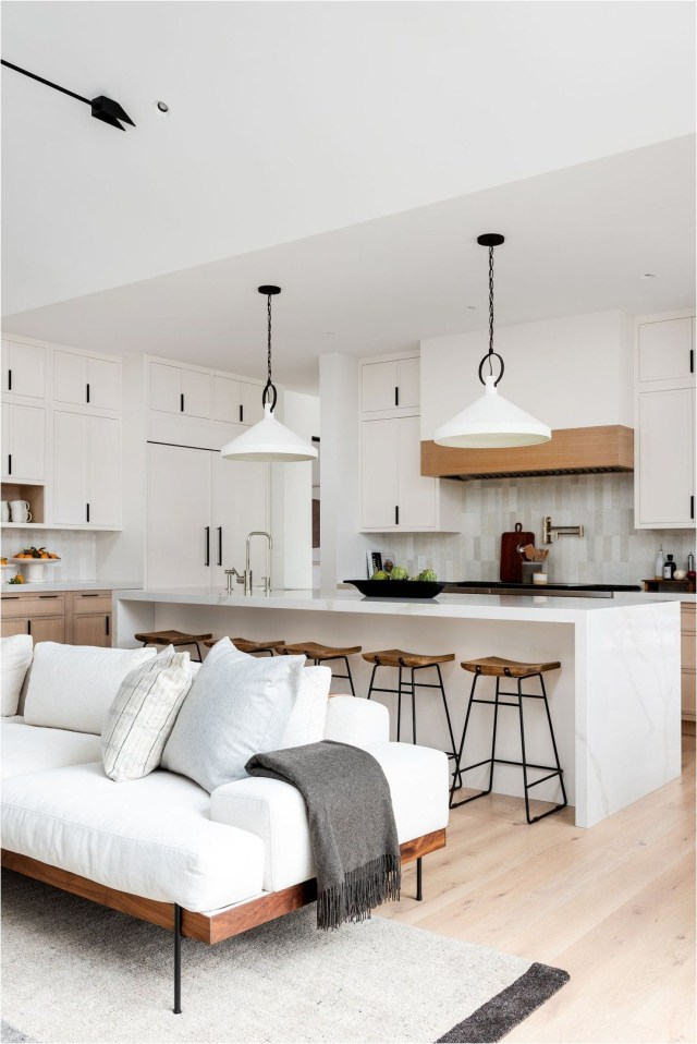 Modern & Minimal Living & Kitchen Space