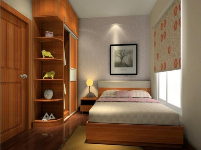 Wardrobe Placement for Minimalist Bedroom Design for Newlyweds