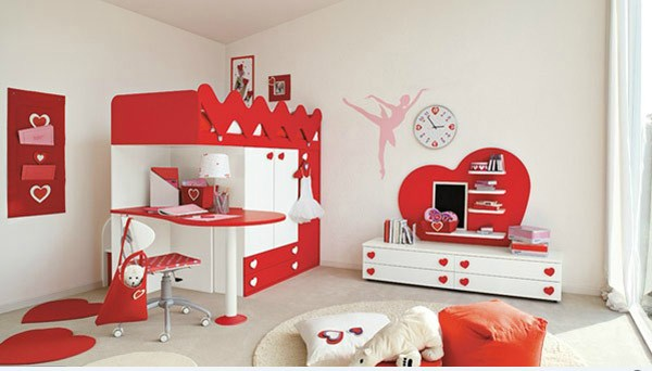 Ballerina for Sweet Bedroom Design with Love Theme