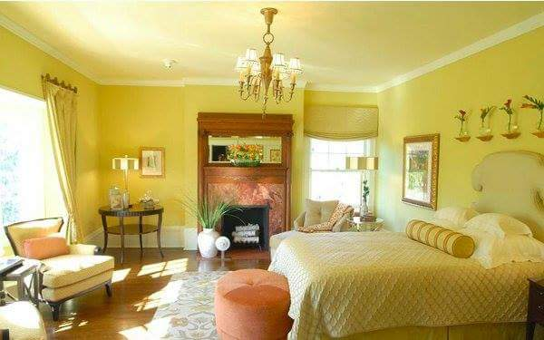 Butter Yellow for Master Bedroom with Various Interest Colors