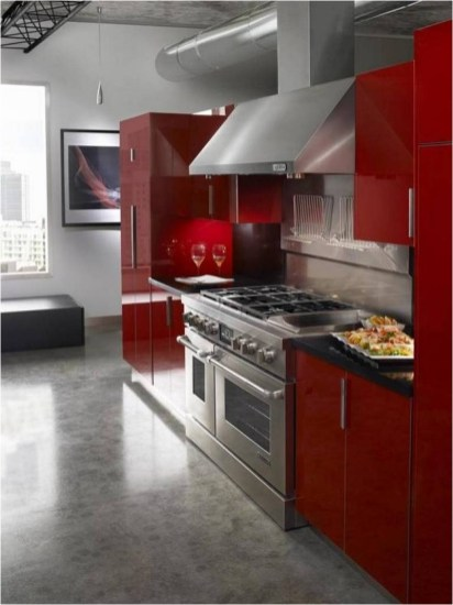 Heating Element For Modern Kitchen With Red Theme
