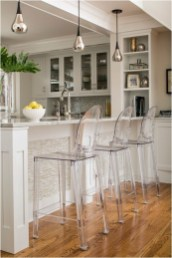 High Transparent Chair For Modern And Clean Kitchen