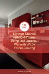 Modern Kitchens With Red Theme, Bring Out Unusual Warmth While You're Cooking