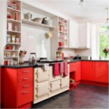 Red And Cream Aga Kitchen Cabinet Ideas