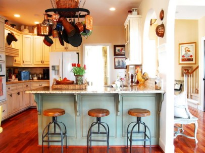Traditional Elements For Modern Kitchen Inspiration With Unique Chair Design