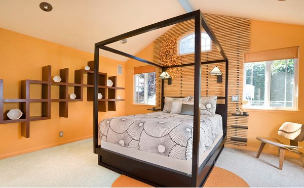 Tropical Bedroom for Tips on Applying Orange Color to Your Bedroom